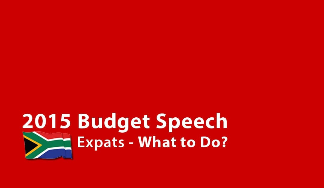 2015 Budget Speech:  South African Expats – What to Do?